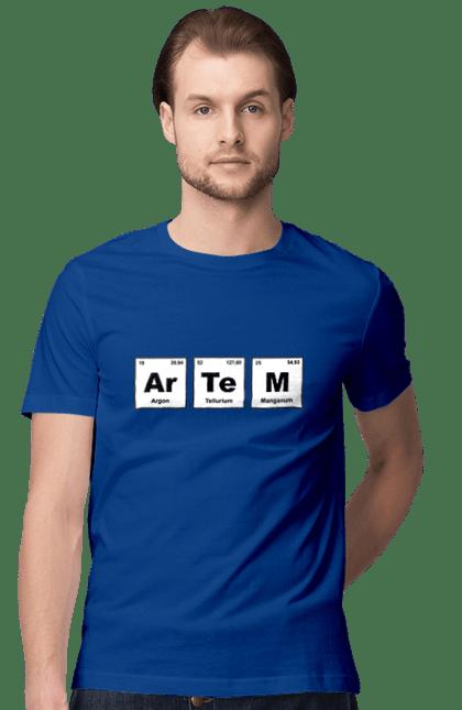Футболка чоловіча з принтом Артем. Артем, імена, таблиця. BlackLine