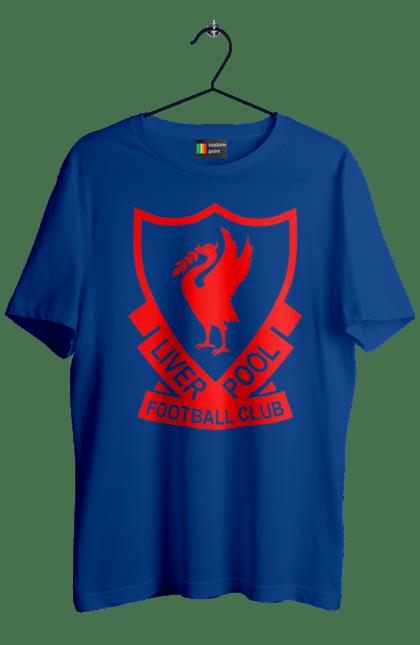 Футболка чоловіча з принтом Ліверпуль. L.f.c., футбол. BlackLine
