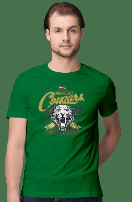 Футболка чоловіча з принтом Міннесота Кугарс. Американський футбол, міннесота. BlackLine