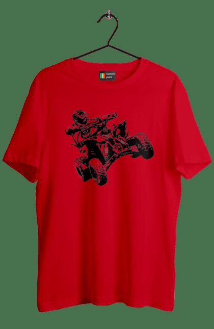 Футболка чоловіча з принтом Людина На Квадроциклі Чорний. Гонки, екстрим, квадроцикл. BlackLine