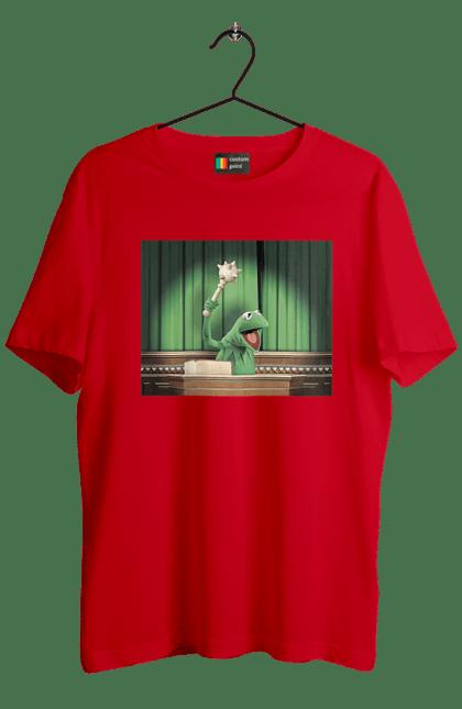 Футболка чоловіча з принтом Жаба з булавою. Булава, вибори, зеленский, інавгурація, ропуха. BlackLine