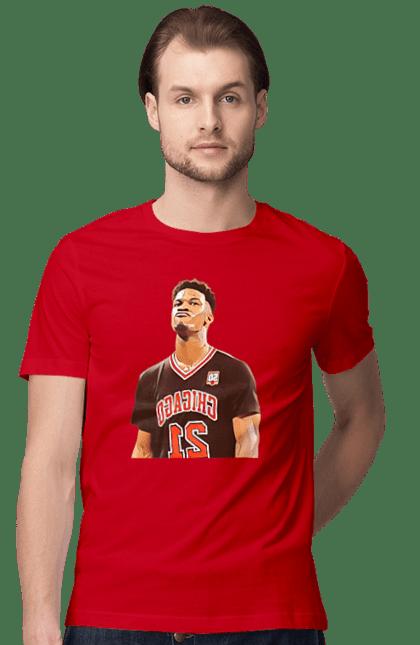 Футболка чоловіча з принтом Баскетболіст Джерсі. Баскетбол, баскетболіст, джерсі, спорт. BlackLine