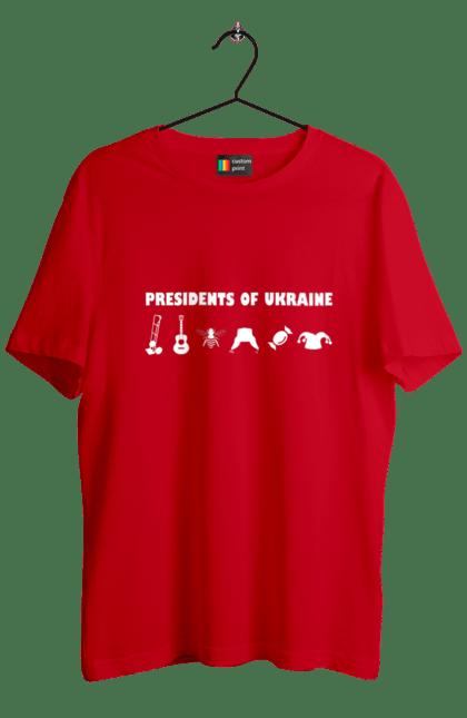 Футболка чоловіча з принтом Президенти України Білий. Президент, прикол, україна. BlackLine