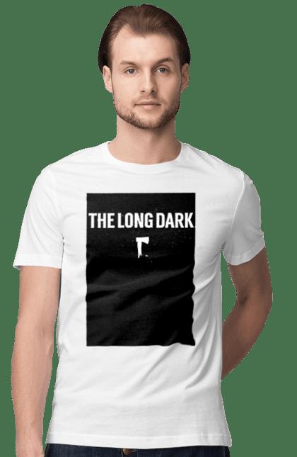 Футболка чоловіча з принтом The Long Dark. The Long Dark, атрибутика, игры, простое, черный цвет. CustomPrint.market
