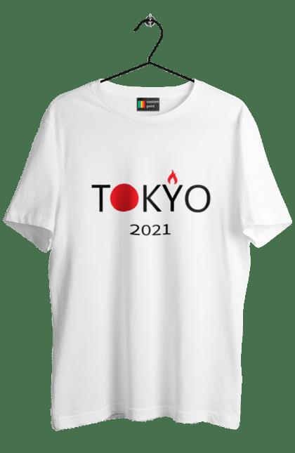 Футболка чоловіча з принтом Токіо 2021, Ігри. Олімпійські ігри, токіо +2021. BlackLine