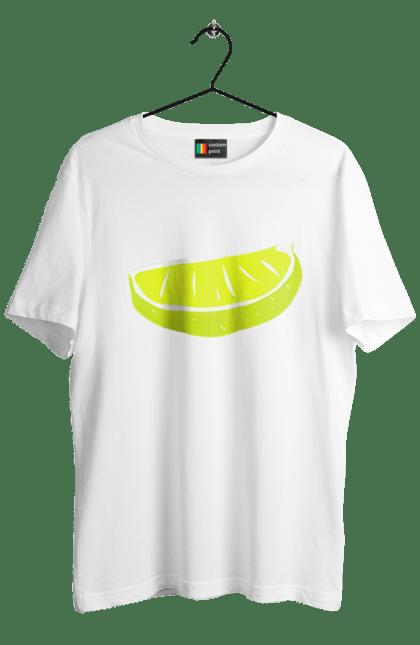 Футболка чоловіча з принтом Часточка лимона. Жовтий, лимон, літо, часточка. CustomPrint.market