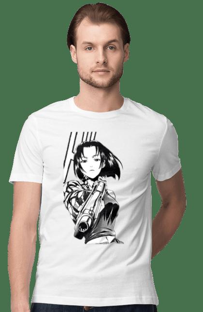 Футболка чоловіча з принтом Аніме З Пістолетом. Аніме, дівчинка, пістолет. CustomPrint.market
