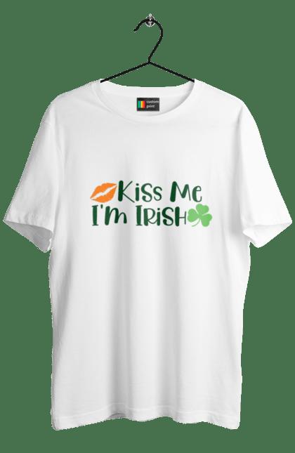 Футболка чоловіча з принтом Поцілуй мене, я ірландець. Ірландець, патрік, поцілуй. CustomPrint.market