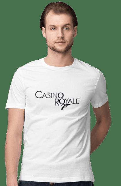 Футболка чоловіча з принтом Casino Royale. Агент 007, джеймс бонд, карти, покер. CustomPrint.market