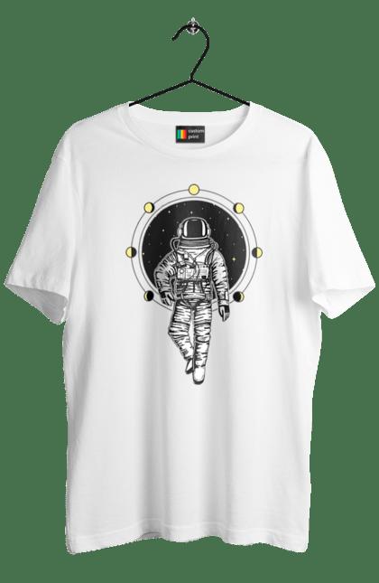 Футболка чоловіча з принтом Космонавт І Місяць. Космонавт, космос, місяць. CustomPrint.market