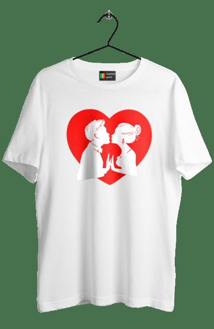 Футболка чоловіча з принтом Закохана Пара В Серце. Закохана пара, любов, серце. CustomPrint.market