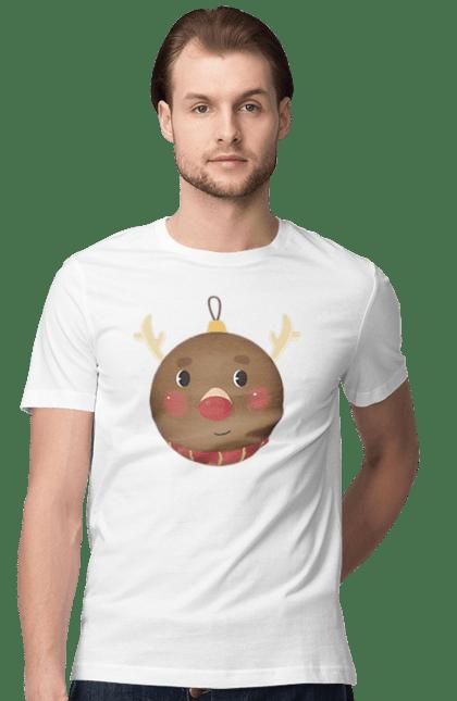 Новорічний кулька олень