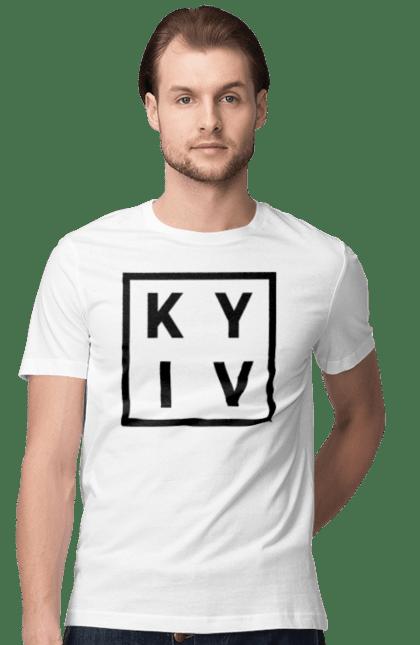 Футболка чоловіча з принтом Київ, Україна. Київ, місто, столиця, україна.
