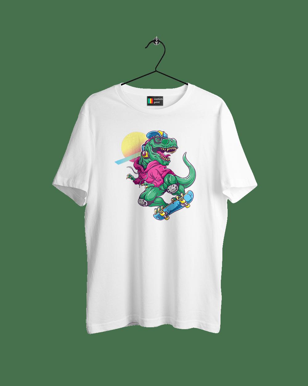 Динозавр В Навушниках І На Скейті