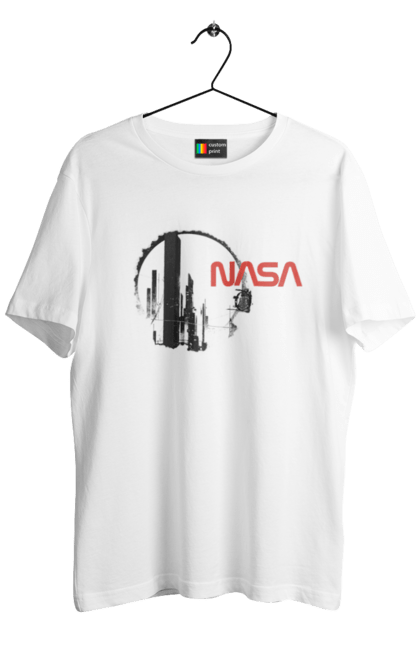 Футболка чоловіча з принтом Nasa Future. Nasa. CustomPrint.market