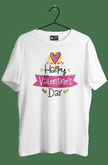 Футболка чоловіча з принтом З днем Святого Валентина. День, з днем валентина, любов, святого валентина, седце. BlackLine