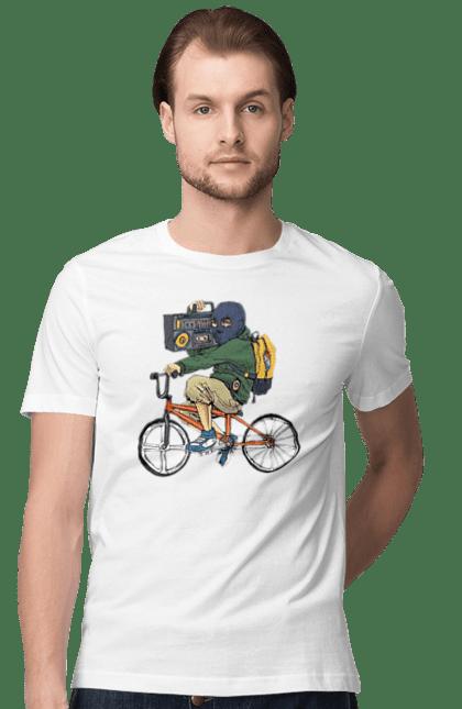 Футболка чоловіча з принтом Злодій На Велосипеді. Велосипед, злодій, касетник. CustomPrint.market