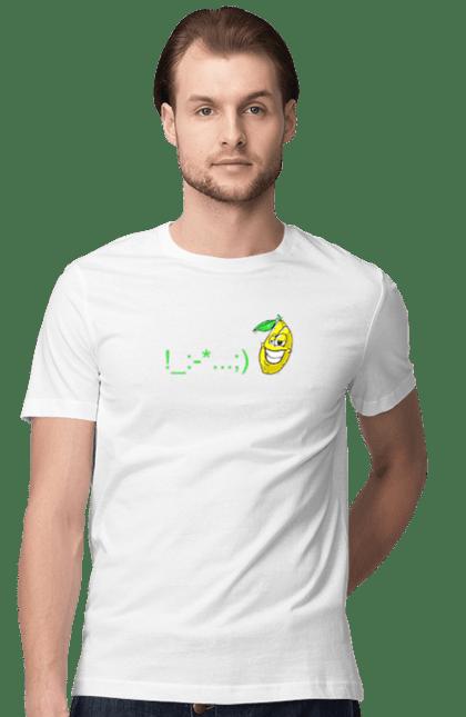 Футболка чоловіча з принтом Настрій Фліртувати Лимон. Лимон, настрій, настроение, прикол, флирт, флірт, фрукти, фрукты. CustomPrint.market
