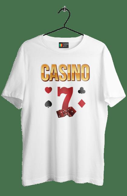 Футболка чоловіча з принтом Casino 7. Виграш, казино, покер, фішки. CustomPrint.market
