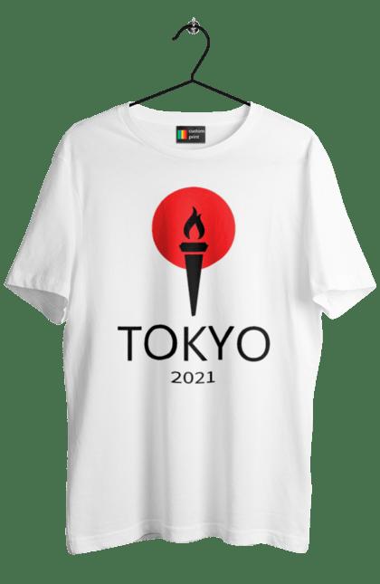 Футболка чоловіча з принтом Токіо 2021, Факел. Олімпійські ігри, токіо, факел. BlackLine