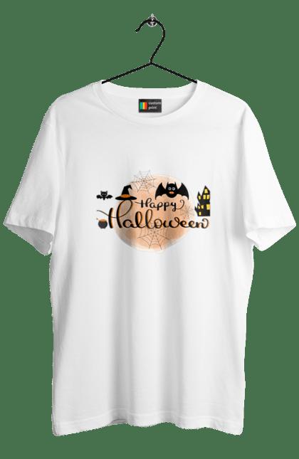 Футболка чоловіча з принтом Веселого хеллоуина. Вечеринка, день всех святых, летучая мышь, праздник, хеллоуин. CustomPrint.market