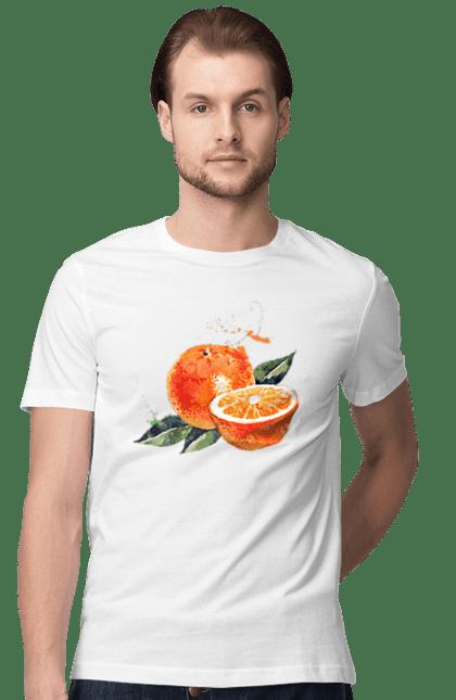 Футболка чоловіча з принтом Помаранчевий Апельсин. Апельсин, помаранчевий апельсин, фрукт, цитрус. CustomPrint.market