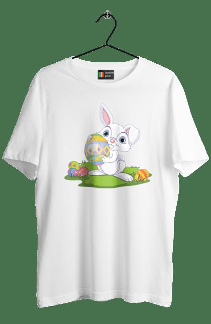 Великодній Зайчик З Яйцем На Галявині