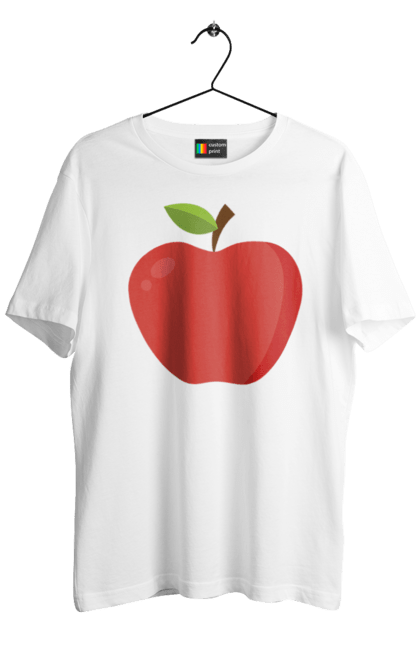Футболка чоловіча з принтом яблуко. Дитина, дочка, плід, син, сімейні, яблуко. CustomPrint.market