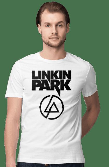 Футболка чоловіча з принтом Лінкін Парк. Група, лінкін парк, музика, рок. BlackLine