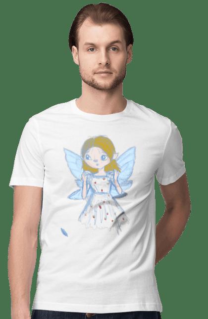 Футболка чоловіча з принтом Fairy Lilac. Аніме, аніме дівчина. CustomPrint.market