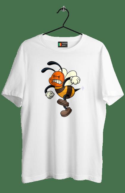 Футболка чоловіча з принтом Розлючена Бджола. Маленька, мед, мультик, пчела, разъяренная. CustomPrint.market
