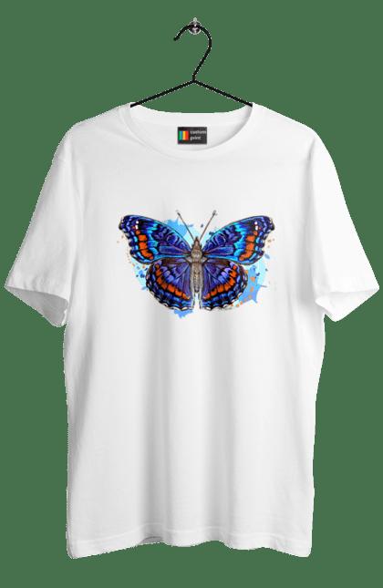 Футболка чоловіча з принтом Синій Метелик. Метелик.