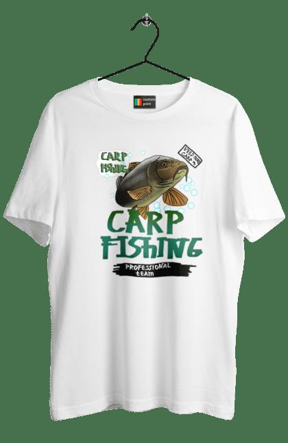 Футболка чоловіча з принтом Carp Fishing. Fisherman, карпфішінг, короп, риба, рибалка, хобі. CustomPrint.market