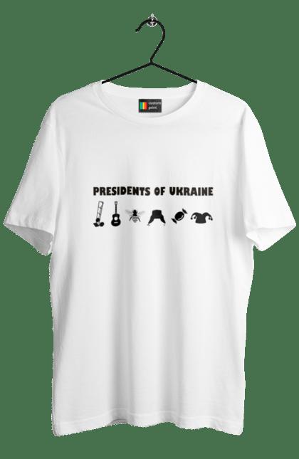 Футболка чоловіча з принтом Президенти України Чорний. Президент, прикол, україна. BlackLine