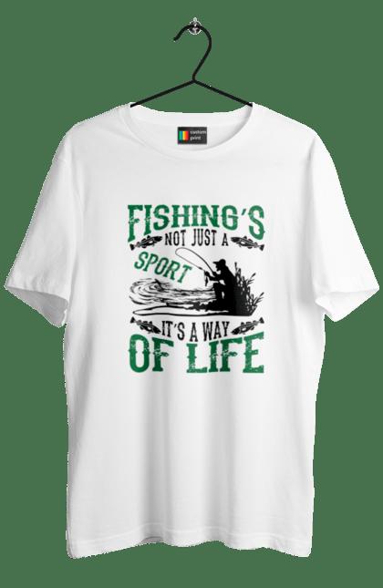 Футболка чоловіча з принтом День Рибалки Риболовля Це Не Просто Спорт Це Спосіб Жіття. Відпочинок, день, рибалка, рибалки, спорт.