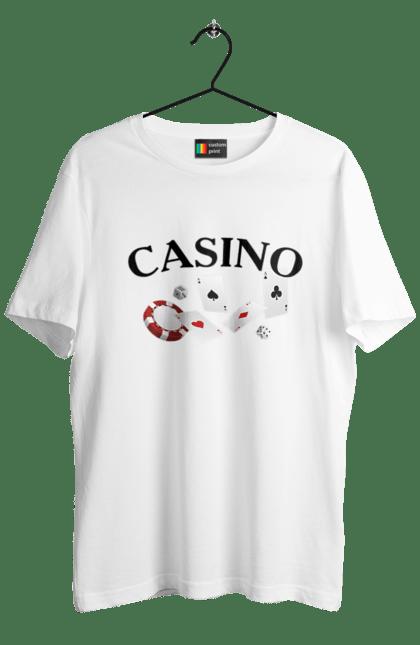 Футболка чоловіча з принтом Casino. Казино, карти, покер, фішки. CustomPrint.market