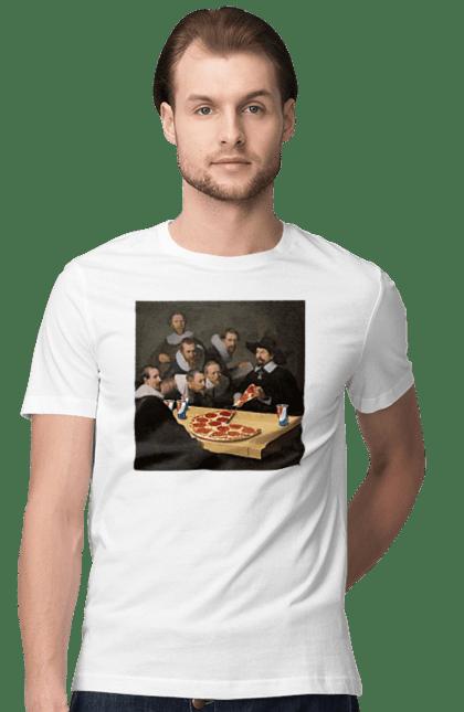 Футболка чоловіча з принтом Скуштуйте Піци. Їжа, картина, піца, приколи. CustomPrint.market