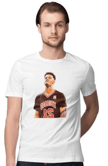Футболка чоловіча з принтом Баскетболіст Джерсі. Баскетбол, баскетболіст, джерсі, спорт. CustomPrint.market