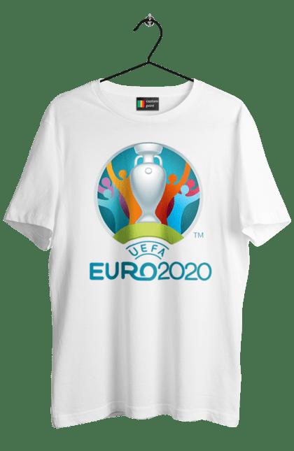 Футболка чоловіча з принтом Уєфа Євро 2020. 2020, євро, уєфа, футбол.