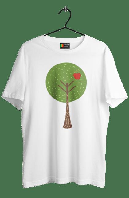 Футболка чоловіча з принтом Яблучне дерево батько. Батьки, батько, мати, сім'я. CustomPrint.market