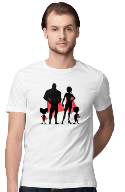 Футболка чоловіча з принтом Сім'я Супергерої. Плащ, сім'я, супергерої. CustomPrint.market