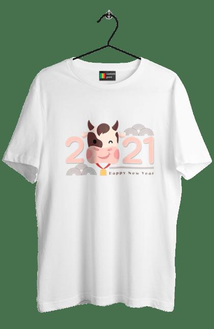 Футболка чоловіча з принтом Рік бика 2021. 2 021, бик, новий рік. CustomPrint.market