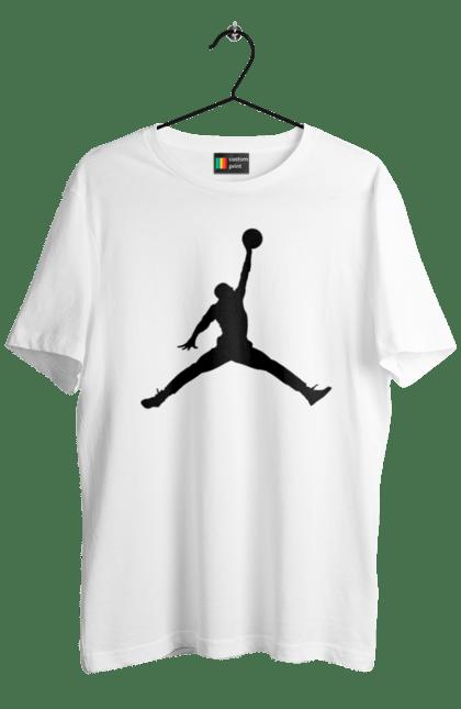 Футболка чоловіча з принтом Jordan. Jordan, бренд, гра, джордан. BlackLine