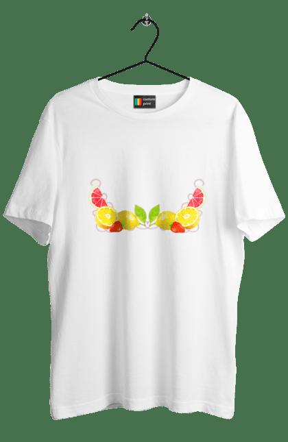 Футболка чоловіча з принтом Фруктовий коктейль. Коктейль, фрукти. BlackLine