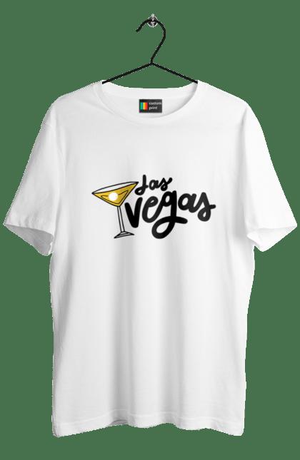 Футболка чоловіча з принтом Лас-Вегас. Алкоголь, казино, коктейль, лас-вегас, покер. CustomPrint.market