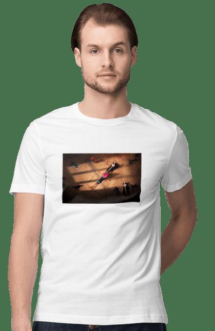Футболка чоловіча з принтом Гра в кальмара, труна для того, хто програв. Гра в кальмара, кальмар, серіал. CustomPrint.market