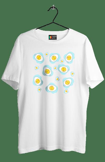 Футболка чоловіча з принтом Миле Яйце. Мило, яйця.