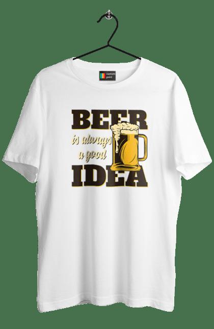 Футболка чоловіча з принтом Beer Idea. Вінтаж, пиво, ретро. BlackLine