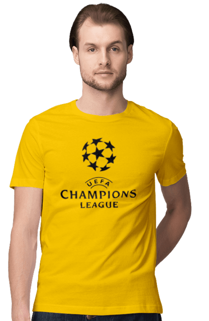 Футболка чоловіча з принтом Ліга чемпіонів. Ліга чемпіонів, футбол. BlackLine