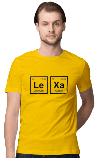 Футболка чоловіча з принтом Леха Ханон. Lethium, xanon. BlackLine